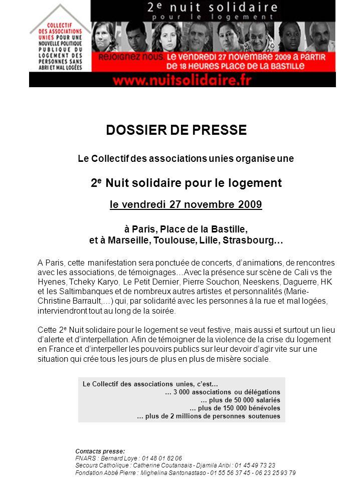 A Paris, cette manifestation sera ponctuée de concerts, danimations, de rencontres avec les associations, de témoignages…Avec la présence sur scène de