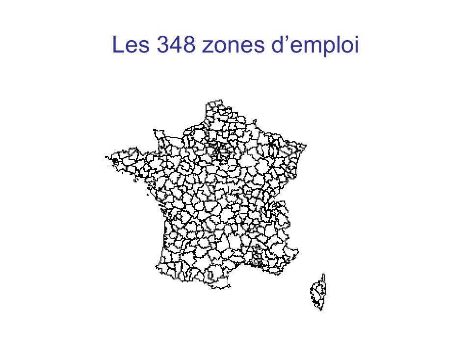 Les 348 zones demploi