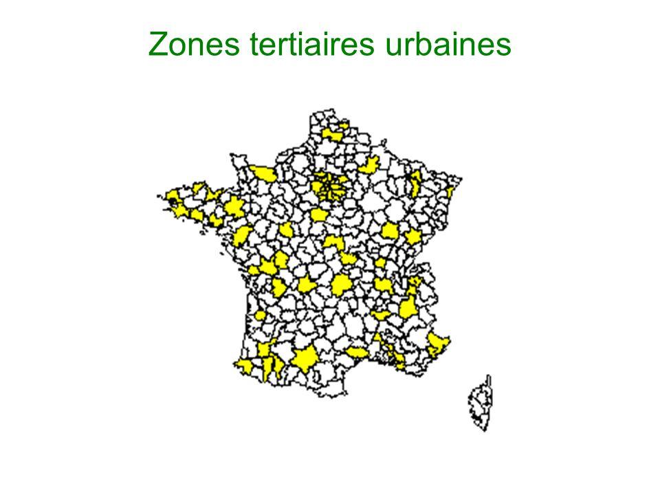 Zones tertiaires urbaines