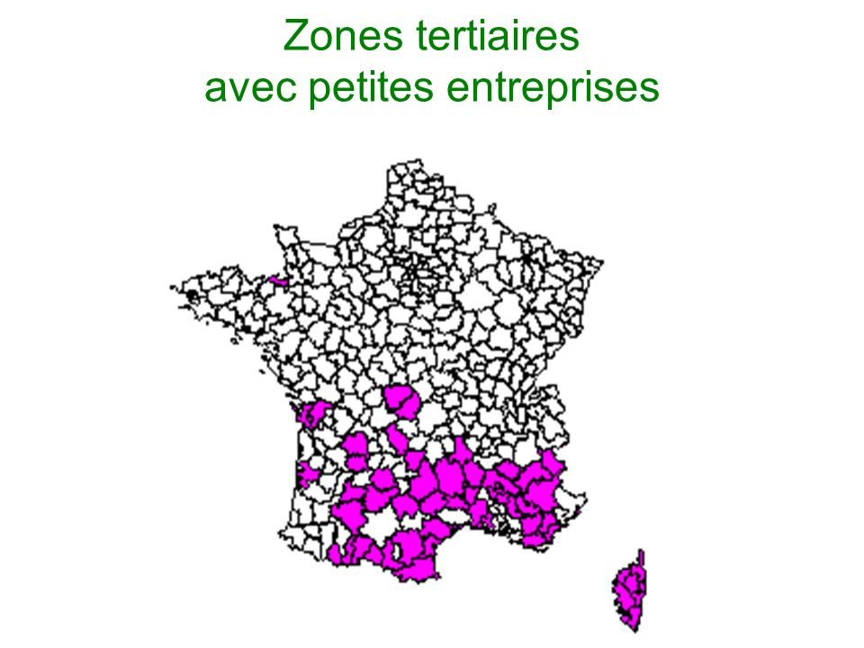 Zones tertiaires avec petites entreprises