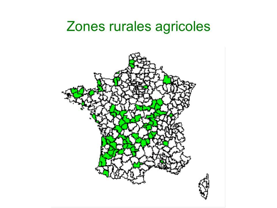 Zones rurales agricoles