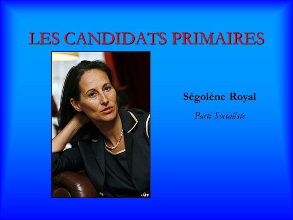 LES CANDIDATS PRIMAIRES François Bayrou Union pour la Démocratie Française