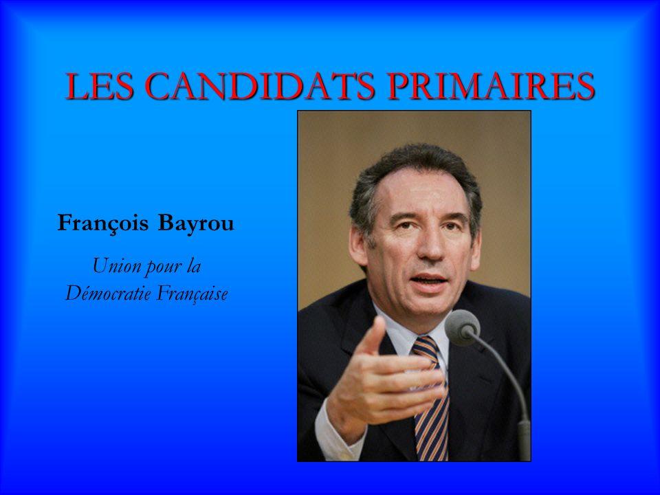 LES CANDIDATS PRIMAIRES Jean Marie Le Pen Front National