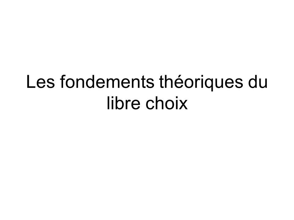 Les fondements théoriques du libre choix