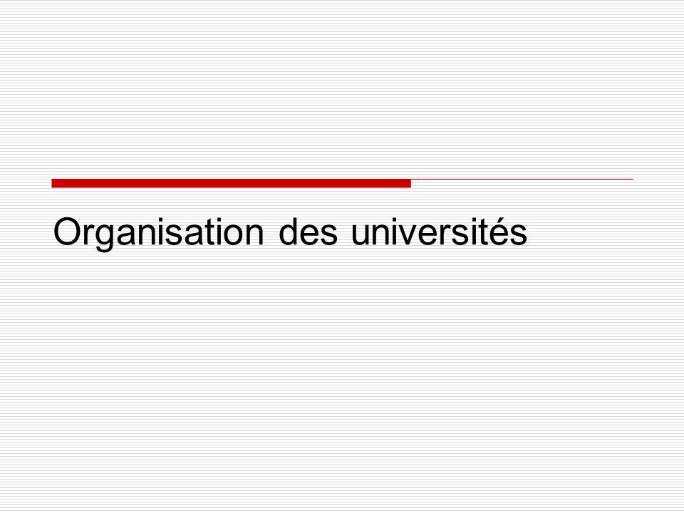 Organisation des universités