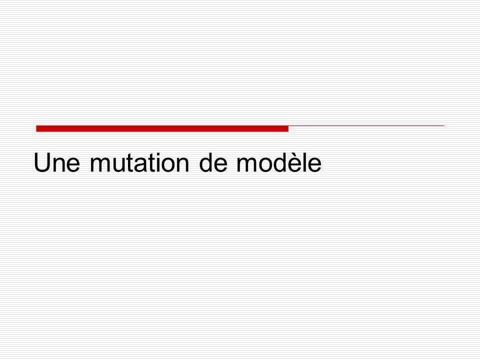 Une mutation de modèle