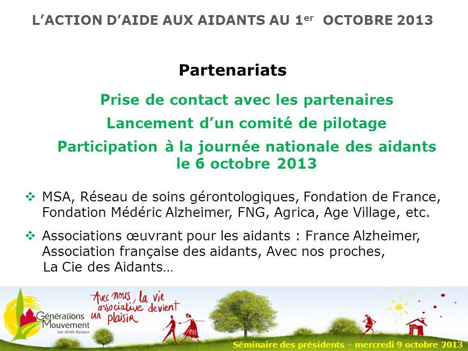 9 Partenariats MSA, Réseau de soins gérontologiques, Fondation de France, Fondation Médéric Alzheimer, FNG, Agrica, Age Village, etc.