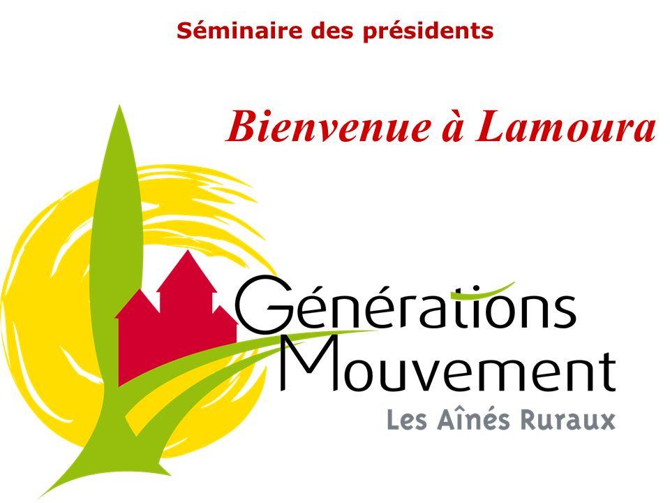 Séminaire des présidents Bienvenue à Lamoura