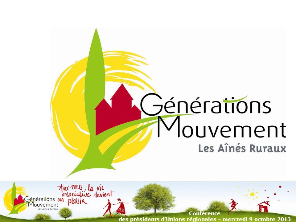 1 Conférence des présidents dUnions régionales – mercredi 9 octobre 2013