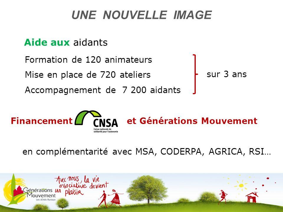 9 Aide aux aidants UNE NOUVELLE IMAGE Formation de 120 animateurs Mise en place de 720 ateliers Accompagnement de 7 200 aidants Financement CNSA e et