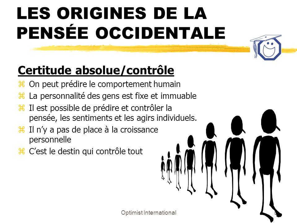 Optimist International4 Les buts du programme ¶Nommer quatre (4) styles de leadership (de comportement) ·Décrire les caractéristiques propres à chacun