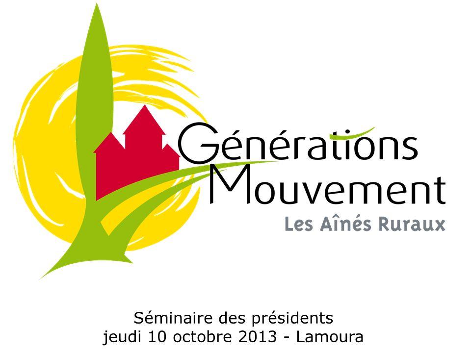 Séminaire des présidents jeudi 10 octobre 2013 - Lamoura