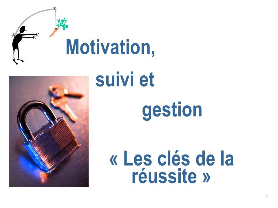 21 Gestion n Est le processus dassistance dans lexécution des comportements de « suivi » n Est la portion « action/communication » du « suivi » n Fournir les « outils pour réussir.
