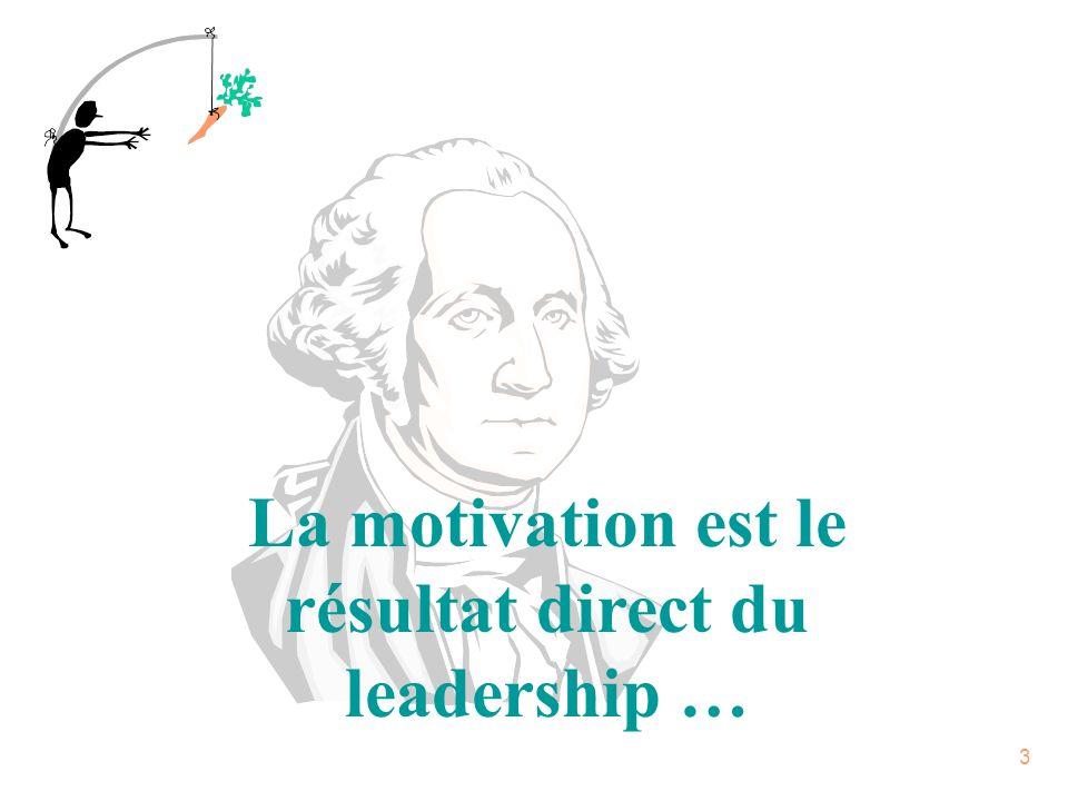3 La motivation est le résultat direct du leadership …
