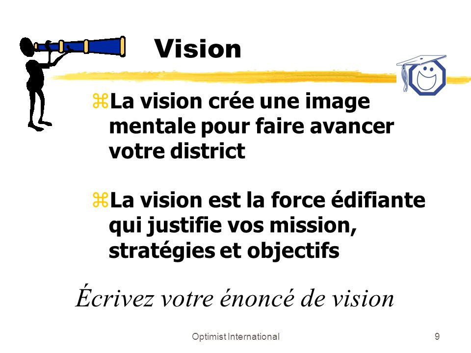Optimist International10 Vision zVision internationalez Votre vision