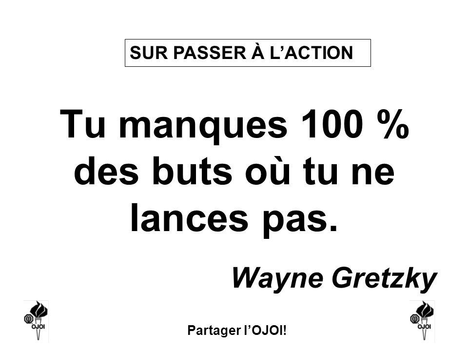Partager lOJOI! Tu manques 100 % des buts où tu ne lances pas. Wayne Gretzky SUR PASSER À LACTION