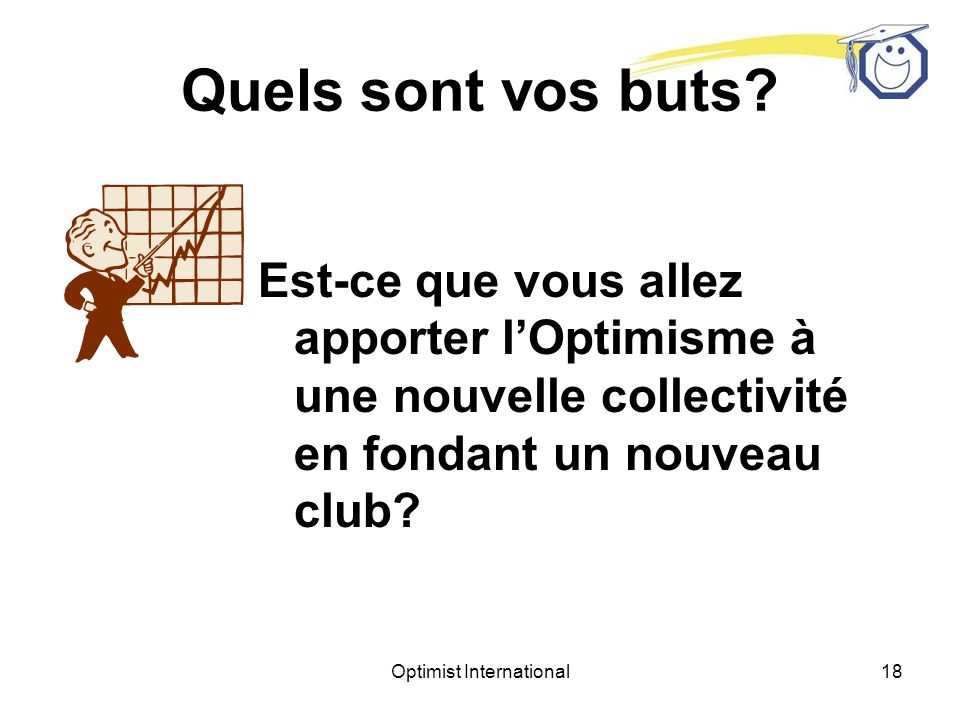 Optimist International17 Quels sont vos buts.