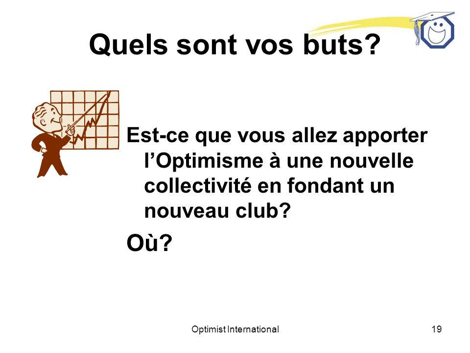Optimist International18 Quels sont vos buts.