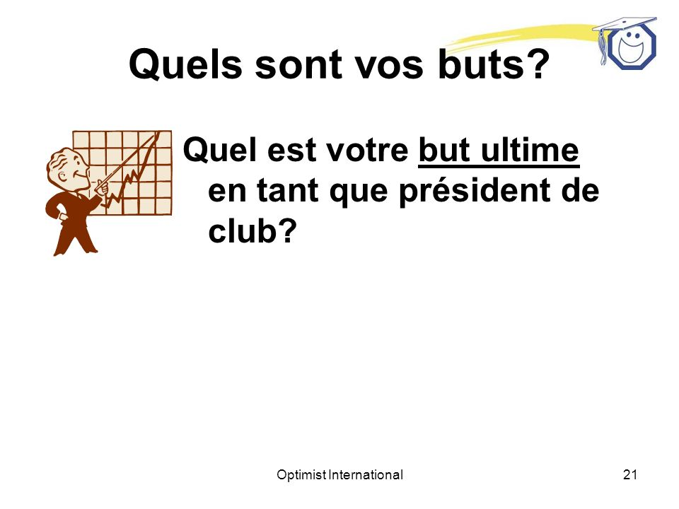 Optimist International20 Quels sont vos buts.