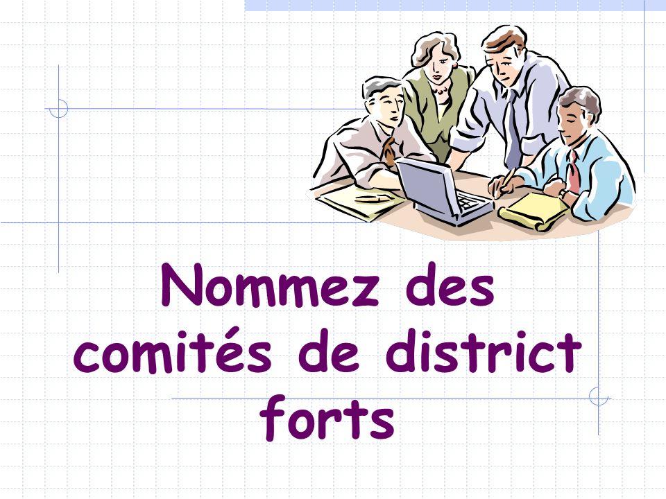 Nommez des comités de district forts