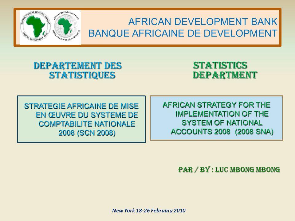 AFRICAN DEVELOPMENT BANK BANQUE AFRICAINE DE DEVELOPMENT SOMMAIRE 1.