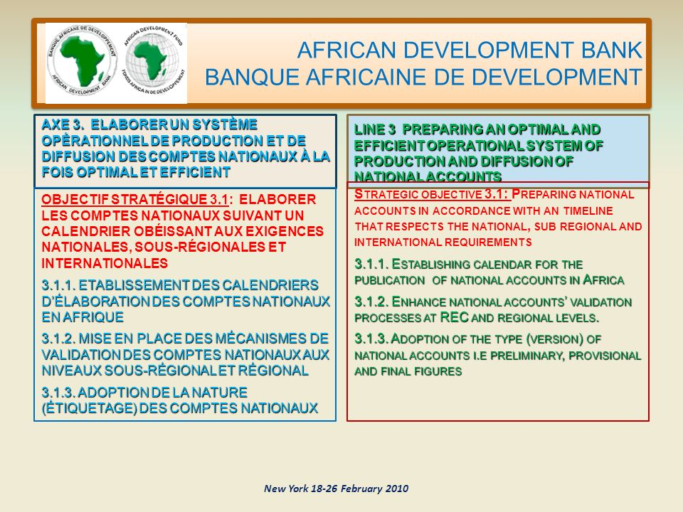 AFRICAN DEVELOPMENT BANK BANQUE AFRICAINE DE DEVELOPMENT AXE 3.