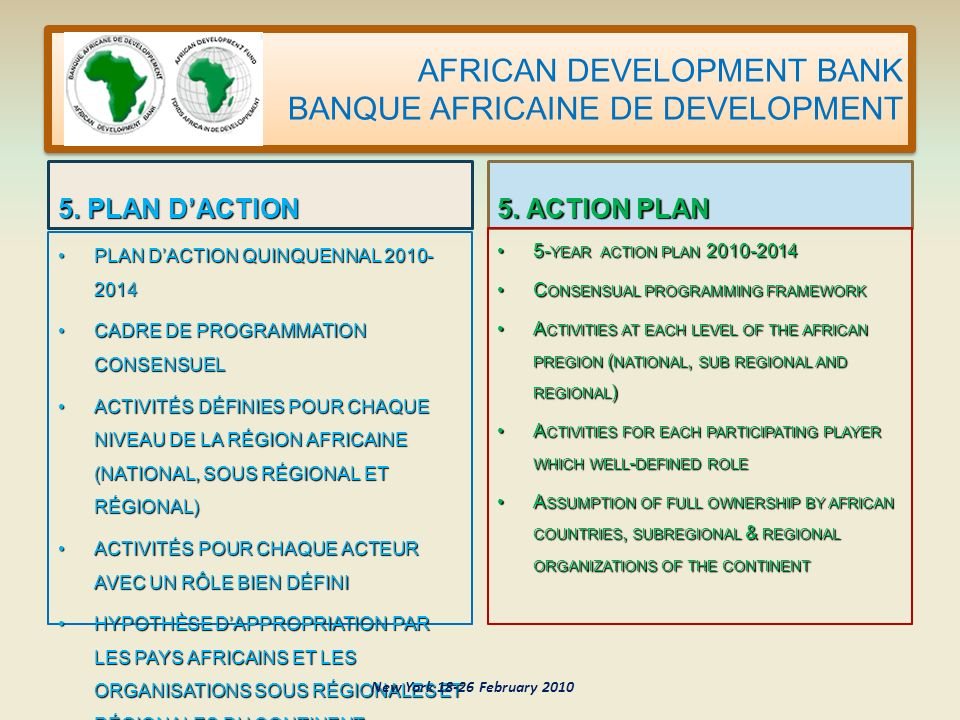 AFRICAN DEVELOPMENT BANK BANQUE AFRICAINE DE DEVELOPMENT 5.