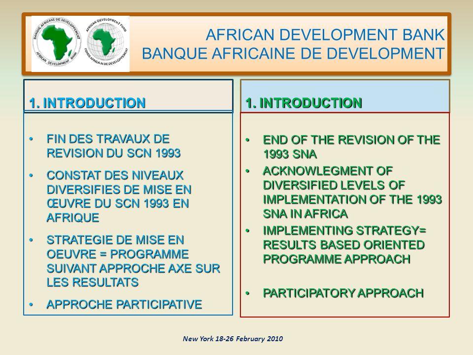 AFRICAN DEVELOPMENT BANK BANQUE AFRICAINE DE DEVELOPMENT MERCI THANK YOU New York 18-26 February 2010