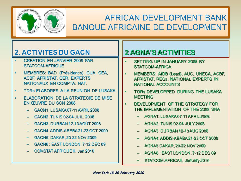 AFRICAN DEVELOPMENT BANK BANQUE AFRICAINE DE DEVELOPMENT 2.