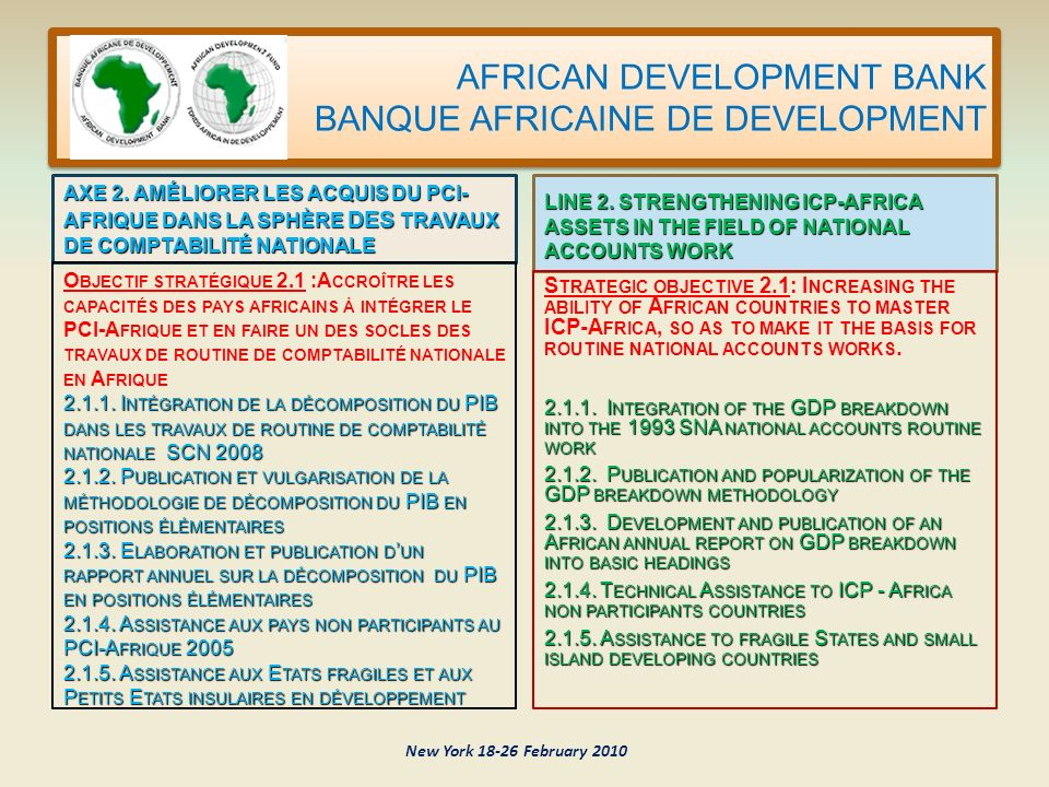 AFRICAN DEVELOPMENT BANK BANQUE AFRICAINE DE DEVELOPMENT AXE 2.