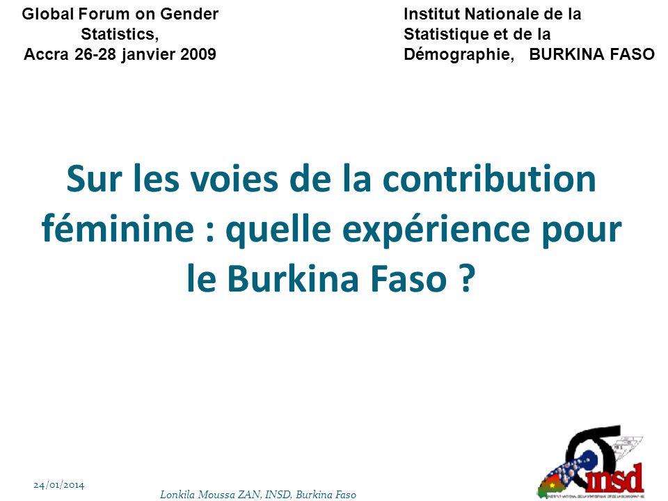 Sur les voies de la contribution féminine : quelle expérience pour le Burkina Faso .