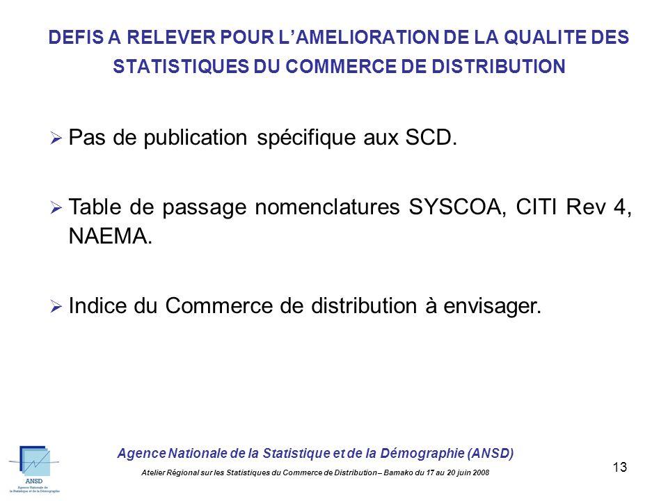 Agence Nationale de la Statistique et de la Démographie (ANSD) Atelier Régional sur les Statistiques du Commerce de Distribution – Bamako du 17 au 20 juin 2008 12 Augmenter le taux de couverture des DSF.