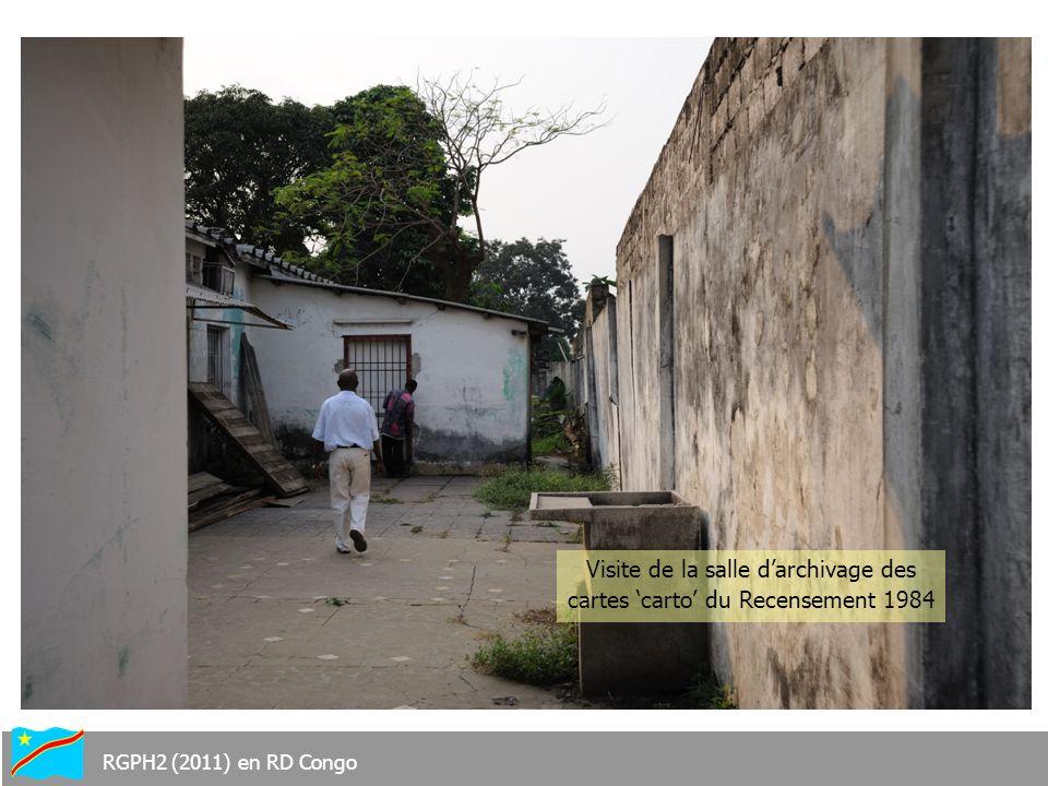Visite de la salle darchivage des cartes carto du Recensement 1984 RGPH2 (2011) en RD Congo