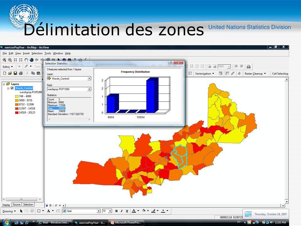 Délimitation des zones Atelier régional sur l organisation et la cartographie des recensements - Rabat - 12-16 novembre 2007