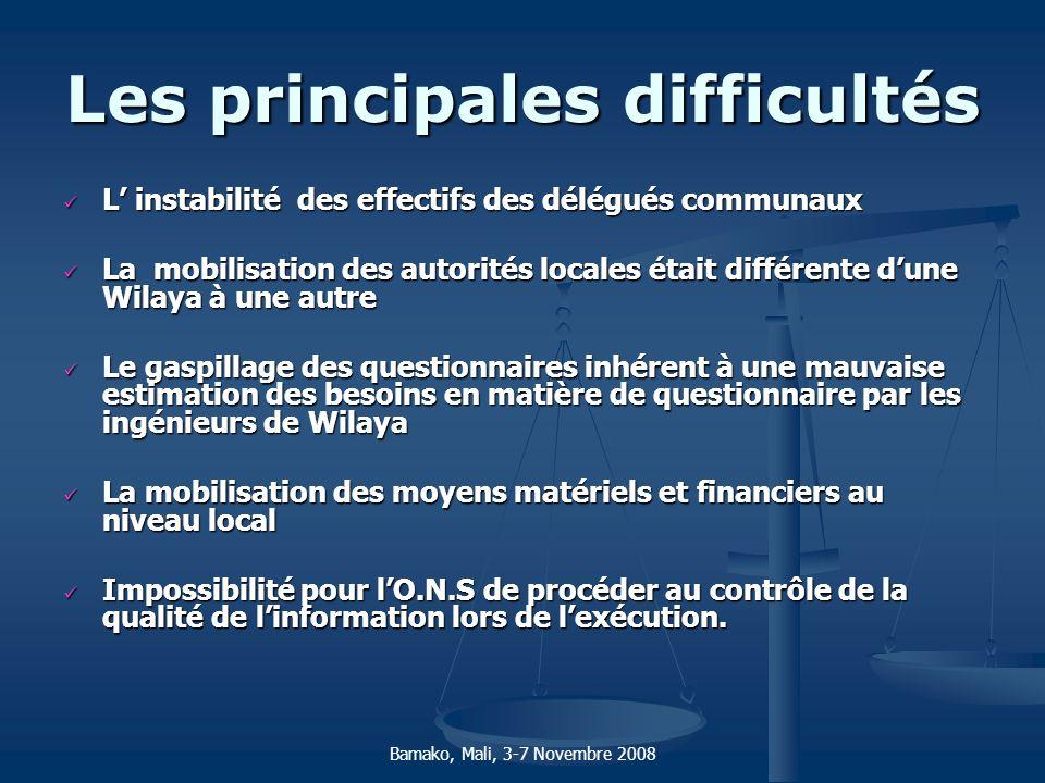 Les principales difficultés L instabilité des effectifs des délégués communaux L instabilité des effectifs des délégués communaux La mobilisation des