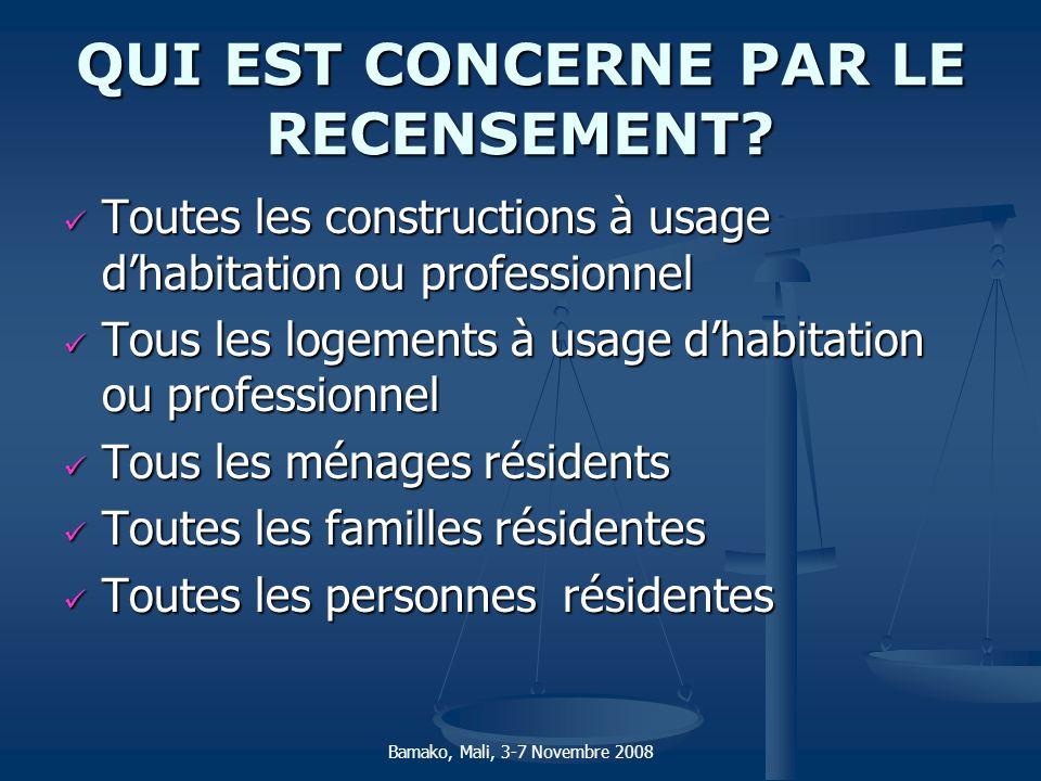 QUI EST CONCERNE PAR LE RECENSEMENT? Toutes les constructions à usage dhabitation ou professionnel Toutes les constructions à usage dhabitation ou pro
