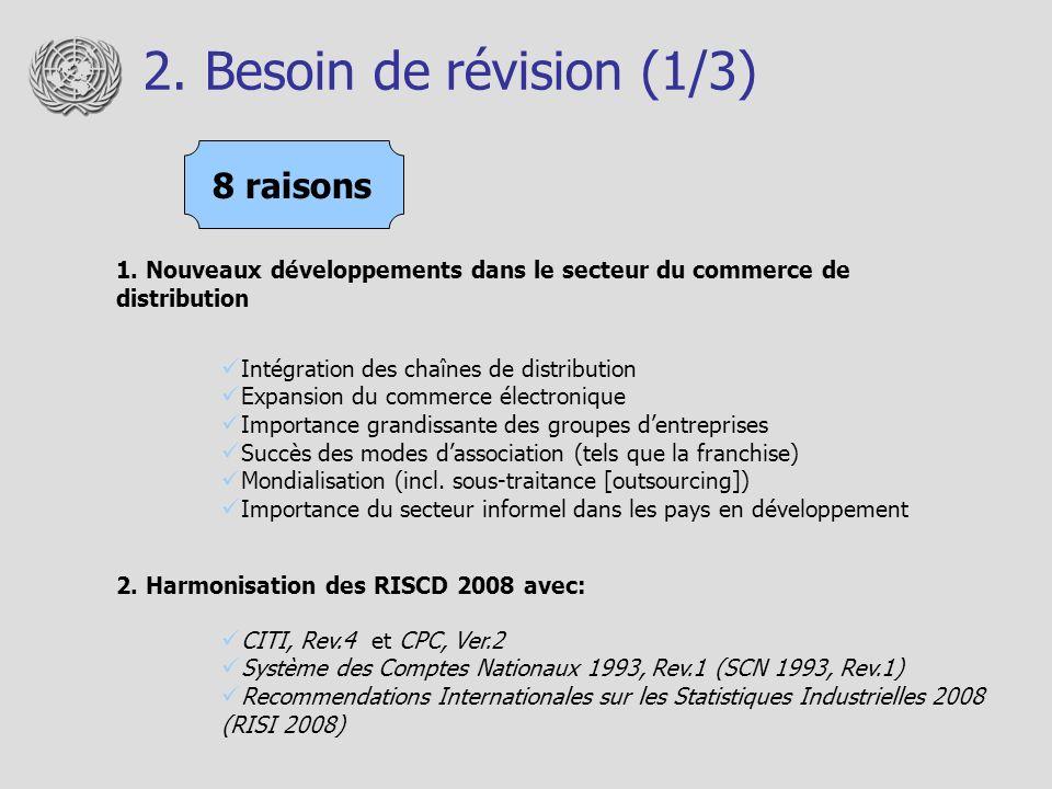 2. Besoin de révision (1/3) 1.