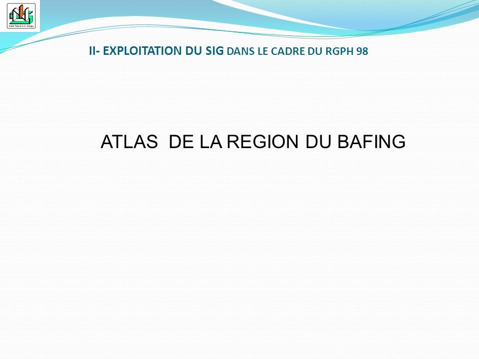 ATLAS DE LA REGION DU BAFING II- EXPLOITATION DU SIG DANS LE CADRE DU RGPH 98