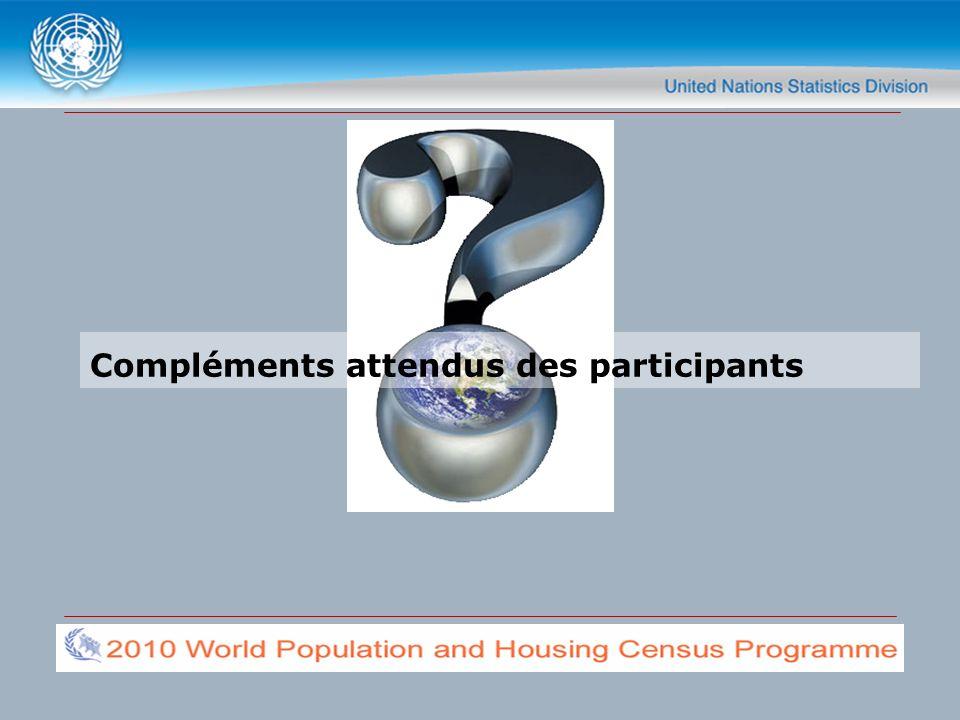 Compléments attendus des participants