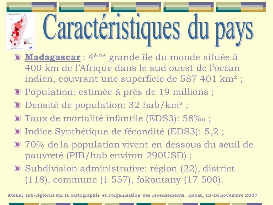 RGPH1 en août 1975, population recensée : 7,4 millions dhabitants ; RGPH2 en août 1993, population recensée : 12,3 millions dhabitants ; RGPH3 pour août 2009.