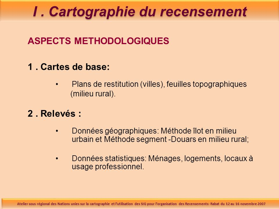 ASPECTS METHODOLOGIQUES 3.
