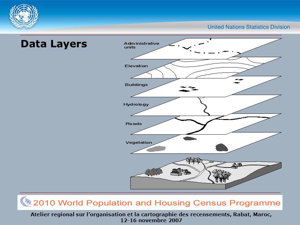 Atelier regional sur lorganisation et la cartographie des recensements, Rabat, Maroc, 12-16 novembre 2007 Data Layers