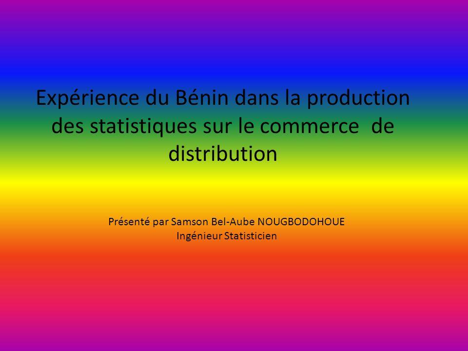 Expérience du Bénin dans la production des statistiques sur le commerce de distribution Présenté par Samson Bel-Aube NOUGBODOHOUE Ingénieur Statisticien