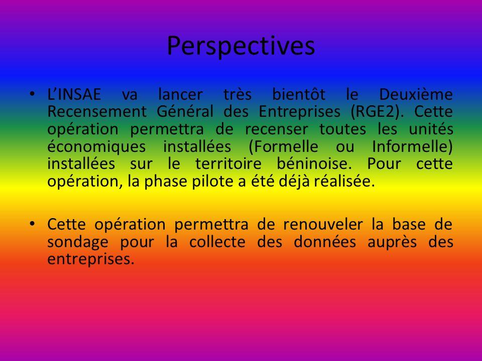 Perspectives LINSAE va lancer très bientôt le Deuxième Recensement Général des Entreprises (RGE2). Cette opération permettra de recenser toutes les un