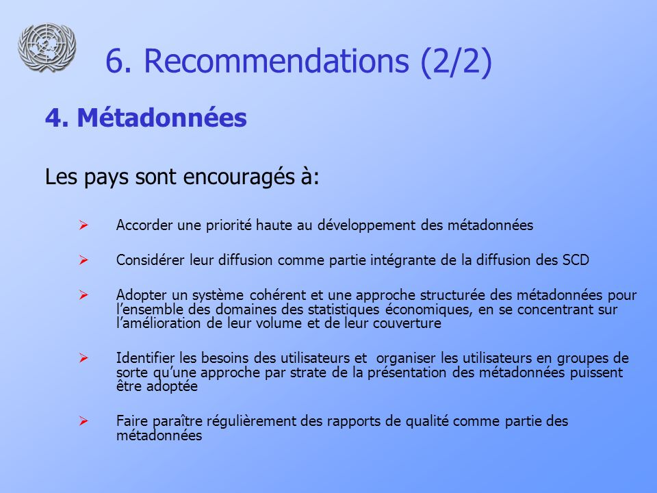 6. Recommendations (2/2) 4.