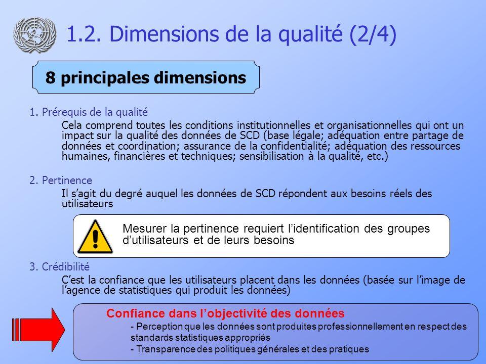 1.2. Dimensions de la qualité (2/4) 1.