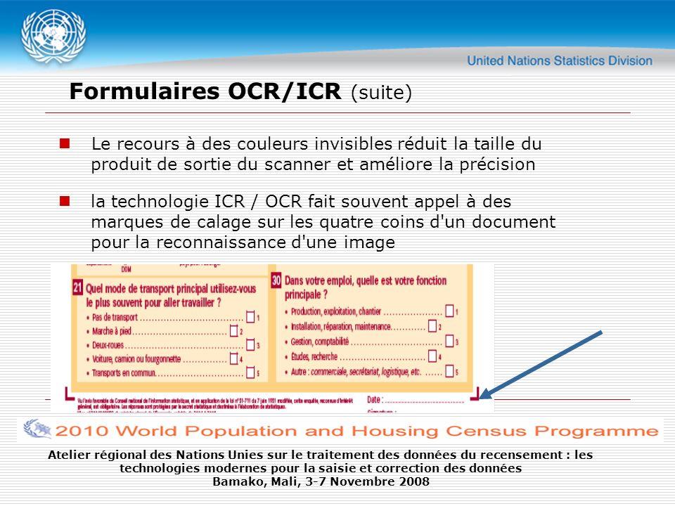 Atelier régional des Nations Unies sur le traitement des données du recensement : les technologies modernes pour la saisie et correction des données Bamako, Mali, 3-7 Novembre 2008
