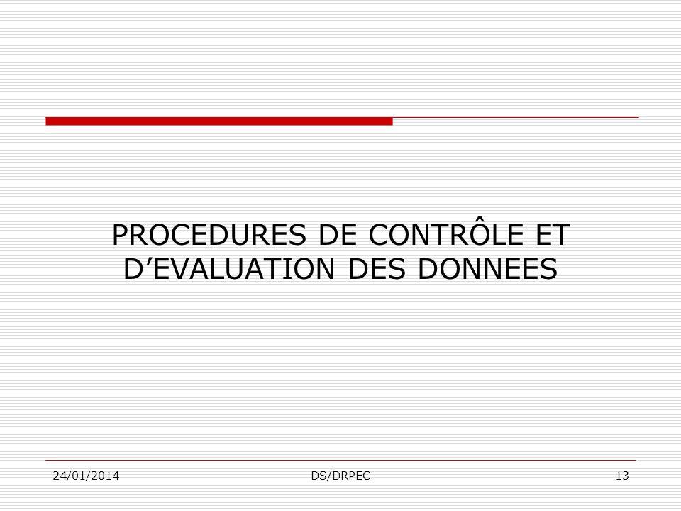24/01/2014DS/DRPEC12 Opérations complémentaires 3 Le recensement pilote + Examiner la qualité et la suffisance des supports cartographiques + Tester t