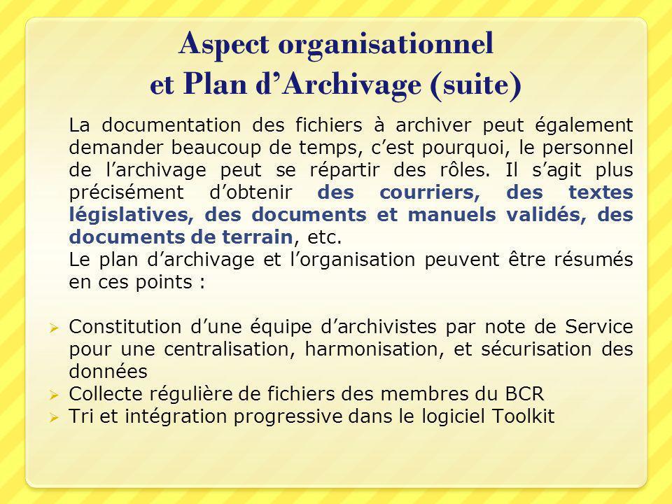 La documentation des fichiers à archiver peut également demander beaucoup de temps, cest pourquoi, le personnel de larchivage peut se répartir des rôl