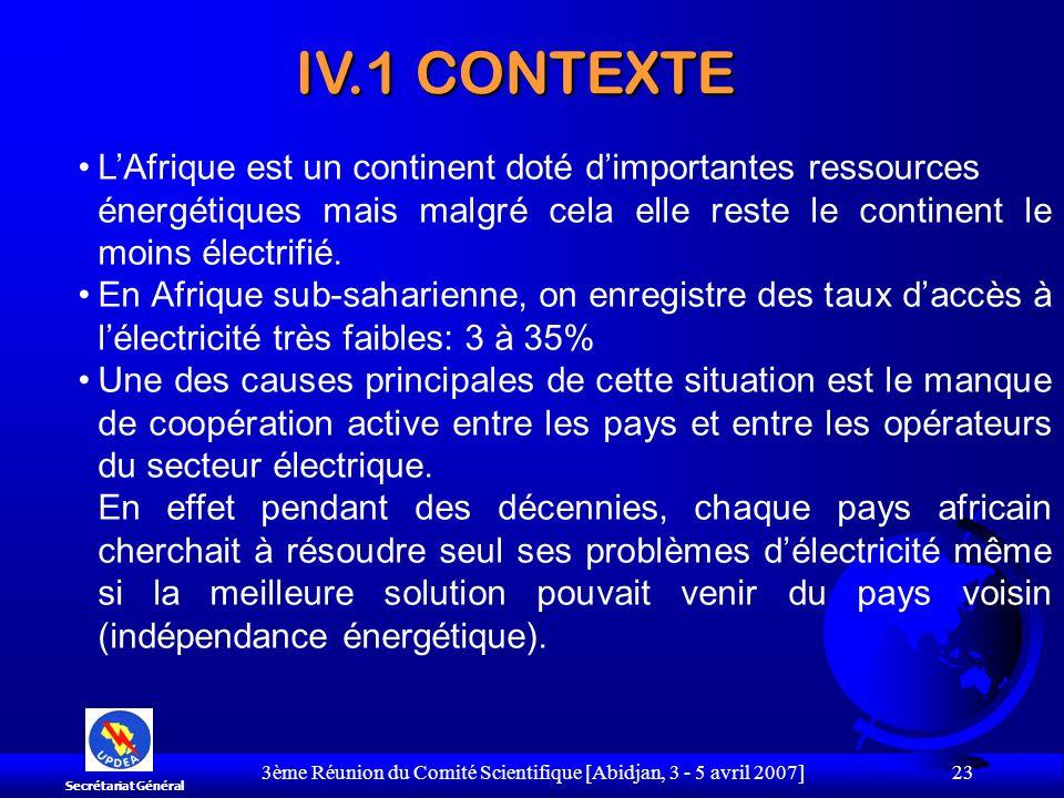 3ème Réunion du Comité Scientifique [Abidjan, 3 - 5 avril 2007] 23 LAfrique est un continent doté dimportantes ressources énergétiques mais malgré cel